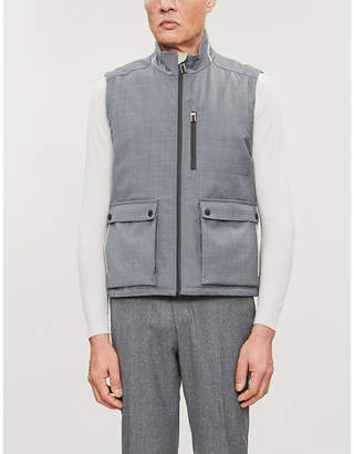Canali Funnel-neck sleeveless wool-blend gilet