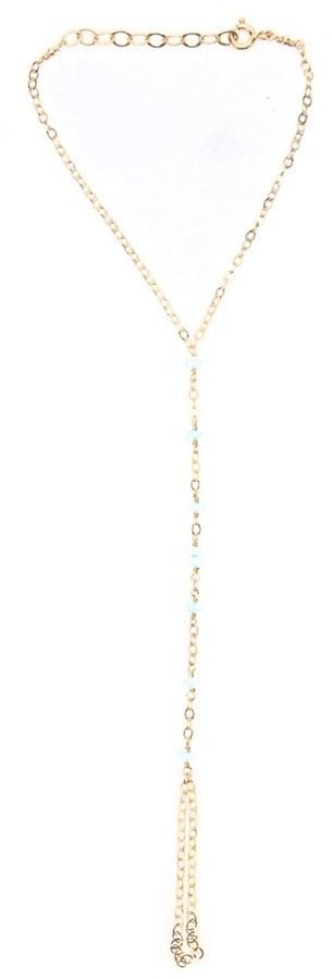Anna Carey blue topaz hand chain
