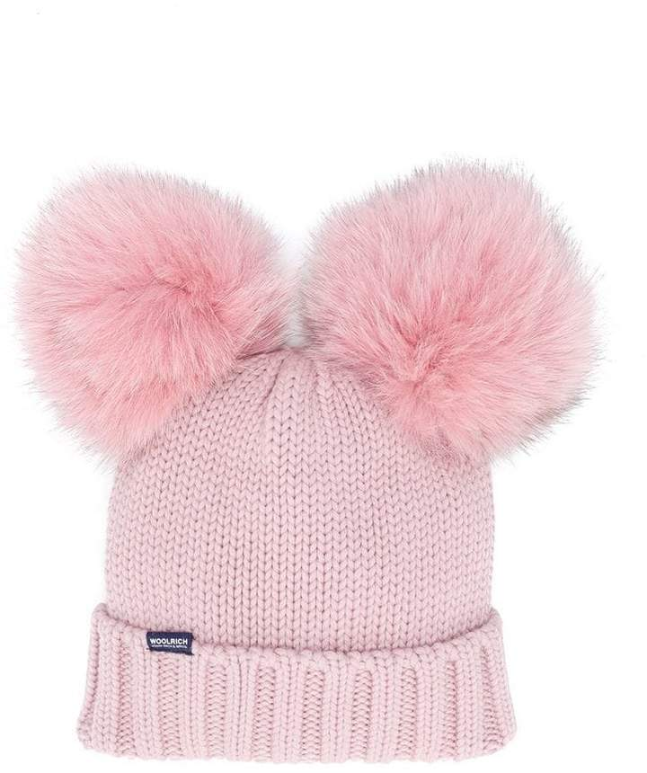 Woolrich Kids pompom knitted hat