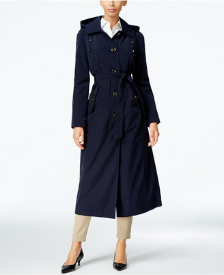 London Fog Hooded Maxi Trench Coat $260 thestylecure.com