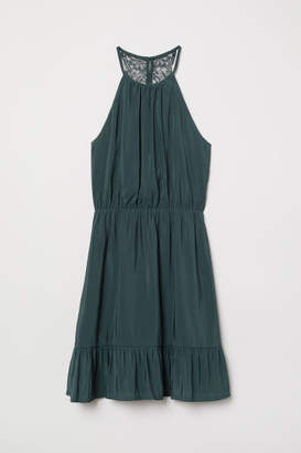 H&M Dress with Lace Back - Green