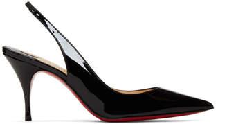 Christian Louboutin Black Patent Clare Sling Heels