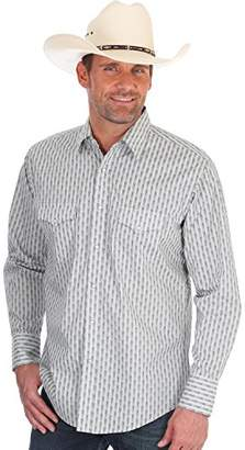 Wrangler Men's Silver Edition Long Sleeve Snap Front Western Shirt