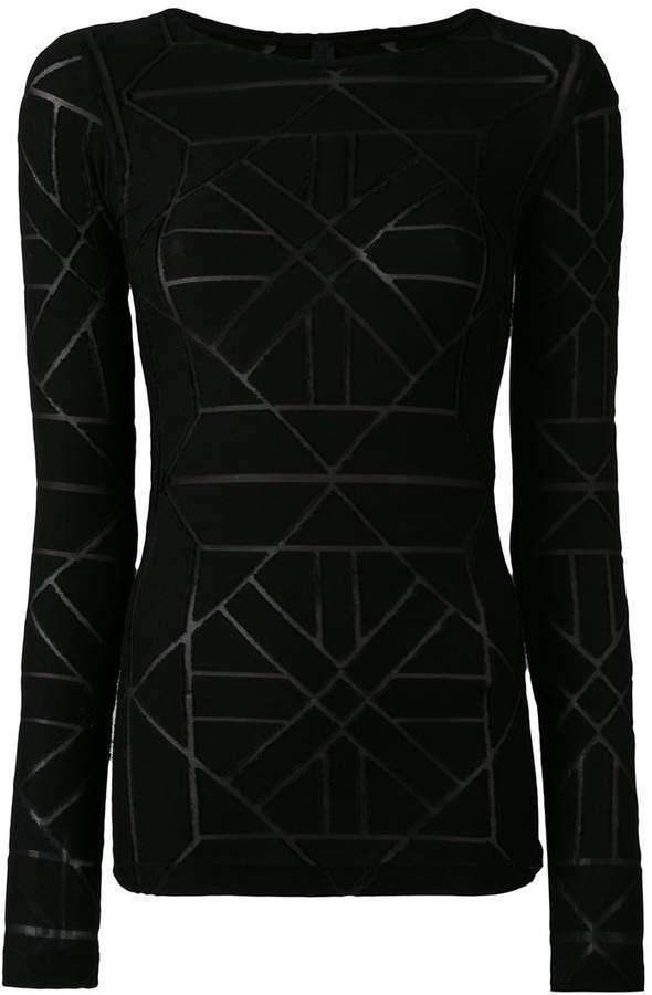 Gareth Pugh sheer panel detail sweater
