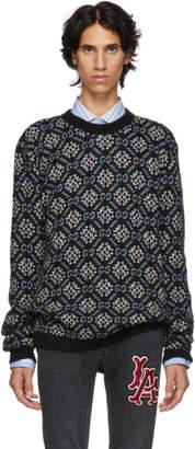 Gucci (グッチ) - Gucci ブラック GG スノーフレーク セーター