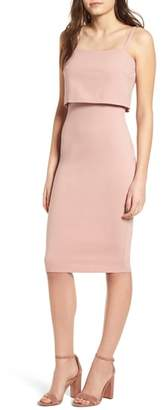 Soprano Popover Midi Body-Con Dress