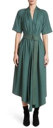ADAM by Adam Lippes Asymmetrical Cotton Poplin Dress