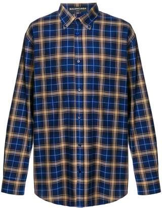 Balenciaga oversized check shirt