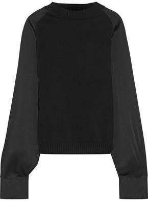410b48fcc2 Haider Ackermann Satin-paneled Wool And Cashmere-blend Sweater