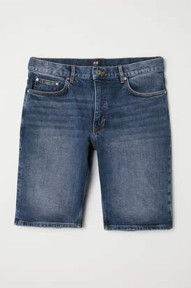 H&M Slim Fit Denim Shorts - Blue