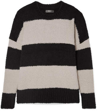 Amiri Oversized Striped Wool-blend Sweater - Black