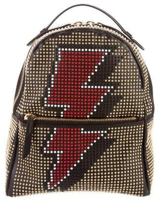 Les Petits Joueurs Small Leather Studded Backpack