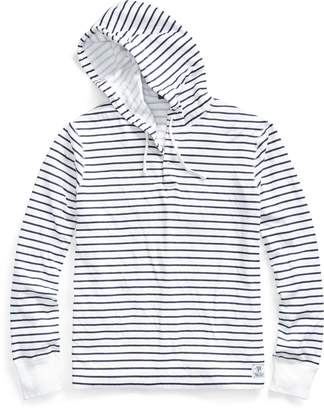 Ralph Lauren Striped Cotton-Blend Hoodie