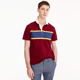 J.Crew Tall short-sleeve 1984 rugby shirt in red