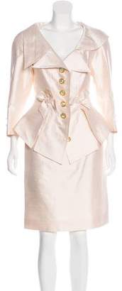 Christian Lacroix Bow-Accented Skirt Suit