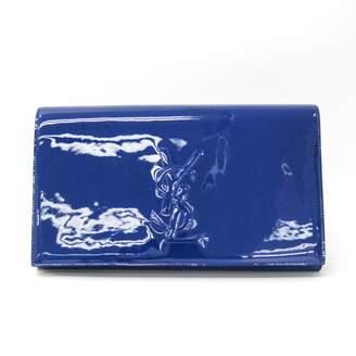 Saint Laurent Belle de Jour Blue Patent leather Clutch bags