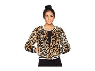 BB Dakota Clever Girl Leopard Faux Fur Bomber