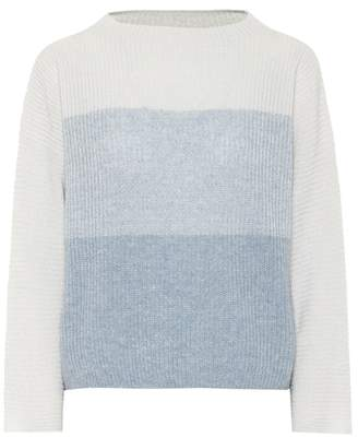 Agnona Striped cashmere and linen sweater