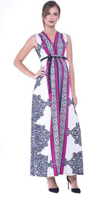 Olian Print Maxi Maternity Dress