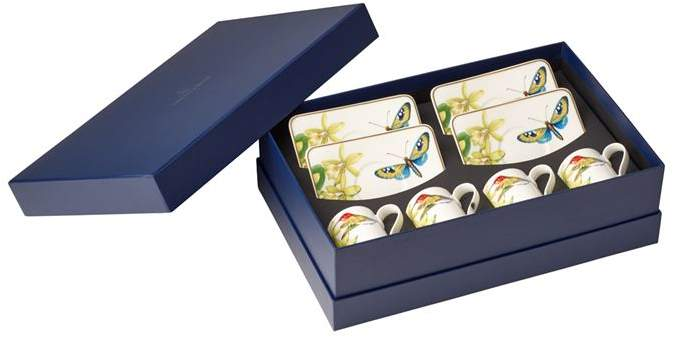 Amazonia Espresso Cup and Saucer Set (8 Pieces)