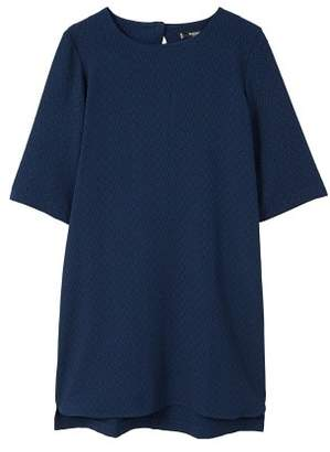 MANGO Textured shift dress