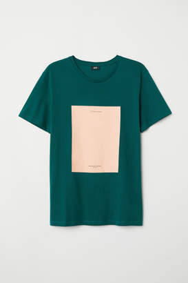 H&M T-shirt with Motif - Green