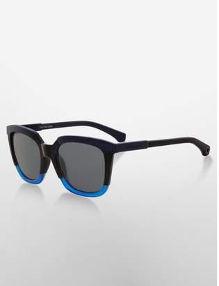 Calvin Klein rectangle tri-tone sunglasses