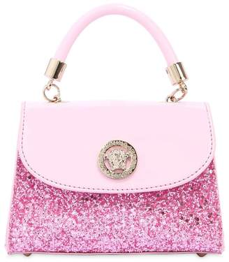 Versace Glittered Patent Leather Bag