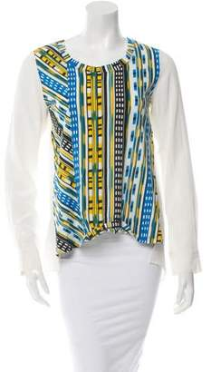 Thakoon Printed Crew Neck Top w/ Tags