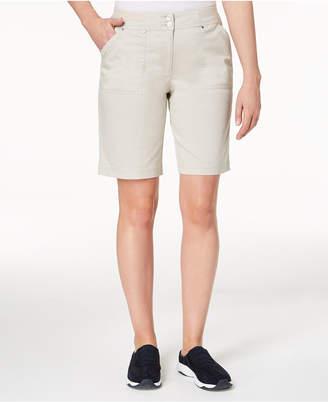 Karen Scott Ribbed-Waist Utility Shorts, Created for Macy's