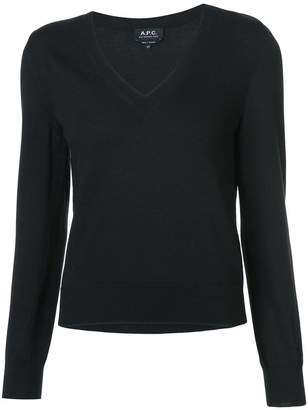A.P.C. knitted V-neck top