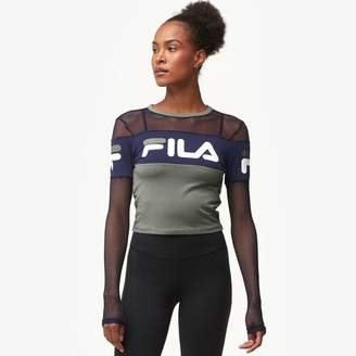 Fila Tara Crop Long Sleeve Top - Women's