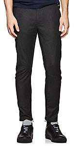 Lanvin Men's Virgin Wool-Cashmere Flannel Moto Trousers - Charcoal