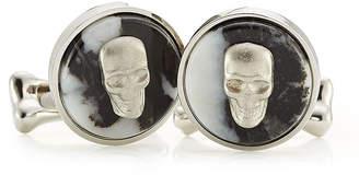Alexander McQueen Skull Cufflinks with Stone