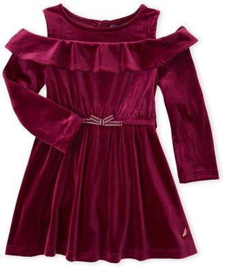 Nautica Toddler Girls) Cold Shoulder Velvet Dress
