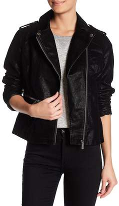 Blanc Noir BNCI by Faux Leather Moto Jacket