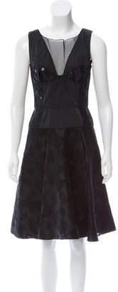 Nina Ricci Sleeveless Fil-Coupé Dress w/ Tags