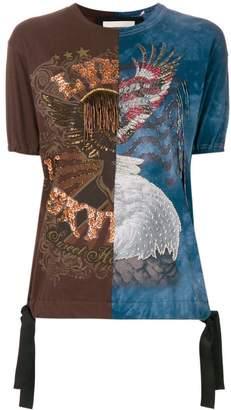 Night Market beaded embroidery T-shirt