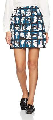 Peter Jensen Women's Double Pocket Skirt Skirt,(Manufacturer Size: L)