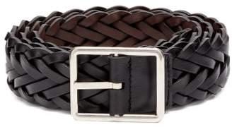 Paul Smith Reversible Woven Leather Belt - Mens - Black