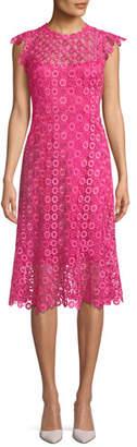 Elie Tahari Florance Geometric-Lace Dress
