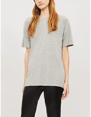 The Kooples T-shirt with rhinestones all over
