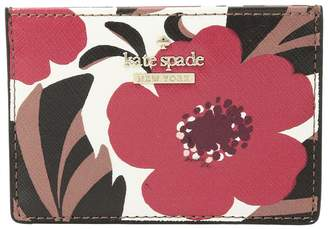 Kate Spade Cameron Street Poppy Field Card Holder Wallet