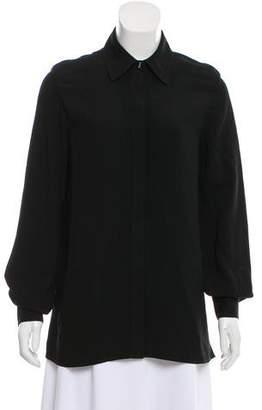 Jason Wu Long Sleeve Button-Up Blouse