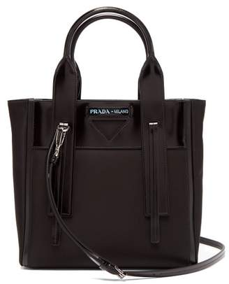 Prada Ouverture Nylon And Leather Tote Bag - Womens - Black