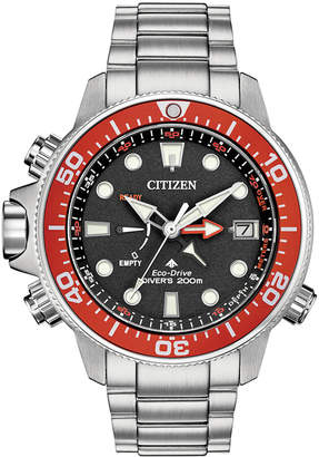 Citizen Eco-Drive Men Promaster Aqualand Stainless Steel Bracelet Watch 46mm