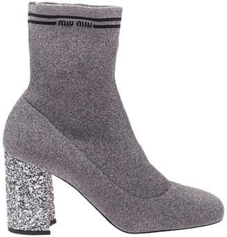 Miu Miu Heeled Booties Shoes Women