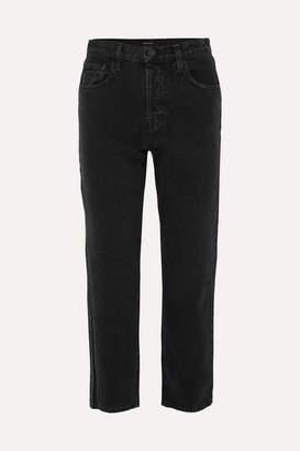 J Brand - Wynne High-rise Cropped Straight-leg Jeans - Black