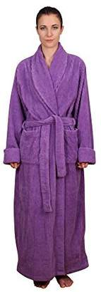 NDK New York Women's Chenille Full Length Cotton Robe