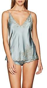 Carine Gilson Women's Lace-Trimmed Silk Camisole - Lt. Green
